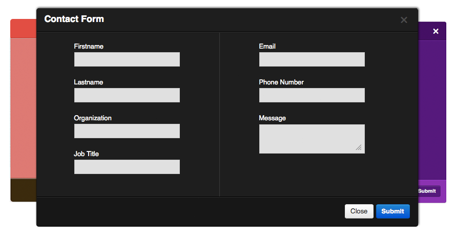 daisy fancy popup contact forms