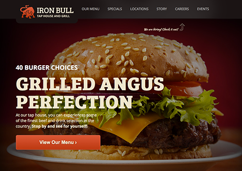 Iron Bull Restaurant WordPress Theme - 1